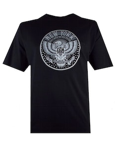 Espionage New York Printed T-Shirt Black