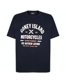 Espionage Coney Island Printed T-Shirt Black