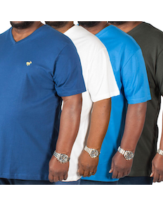 Bigdude Signature V-Neck T-Shirt Classic 4 Pack