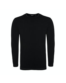 Bigdude Long Sleeve Thermal T-Shirt Black Tall