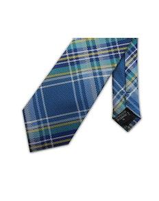 Knightsbridge Extra Long Checked Tie Blue