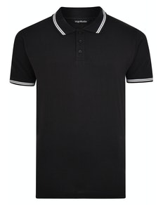 Bigdude Tipped Polo Shirt Black Tall