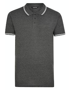 Bigdude Tipped Polo Shirt Charcoal