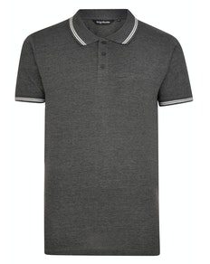 Bigdude Tipped Polo Shirt Charcoal Tall