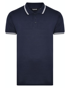 Bigdude Tipped Polo Shirt Navy Tall