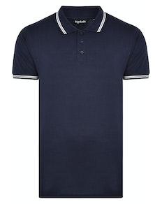 Bigdude Tipped Polo Shirt Navy Tall
