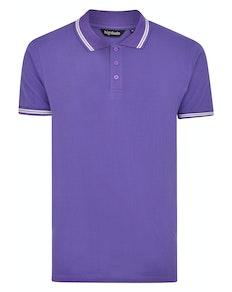 Bigdude Tipped Polo Shirt Purple