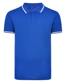 Bigdude Tipped Polo Shirt Royal Blue