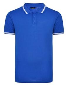 Bigdude Tipped Polo Shirt Royal Blue