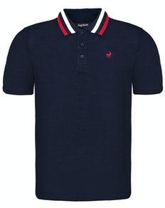 Bigdude Chunky Tipped Polo Shirt Navy