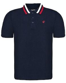 Bigdude Chunky Tipped Polo Shirt Navy