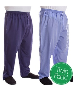 Kings Club Twin Pack Plain Pyjama Bottoms