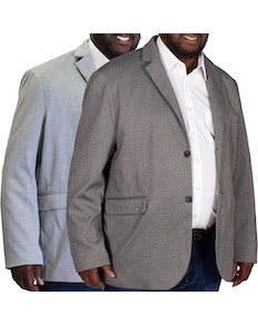 Tooting & Brow Textured Blazer Twin Pack Charcoal/Light Grey