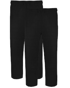 Bigdude Twin Pack Classic Pyjama Trousers Black