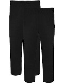 Bigdude Twin Pack Classic Pyjama Trousers Black