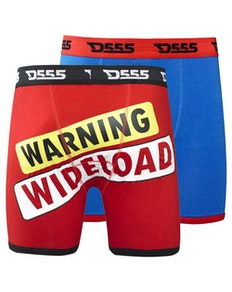 D555 Novelty 2 Pack Boxer Shorts