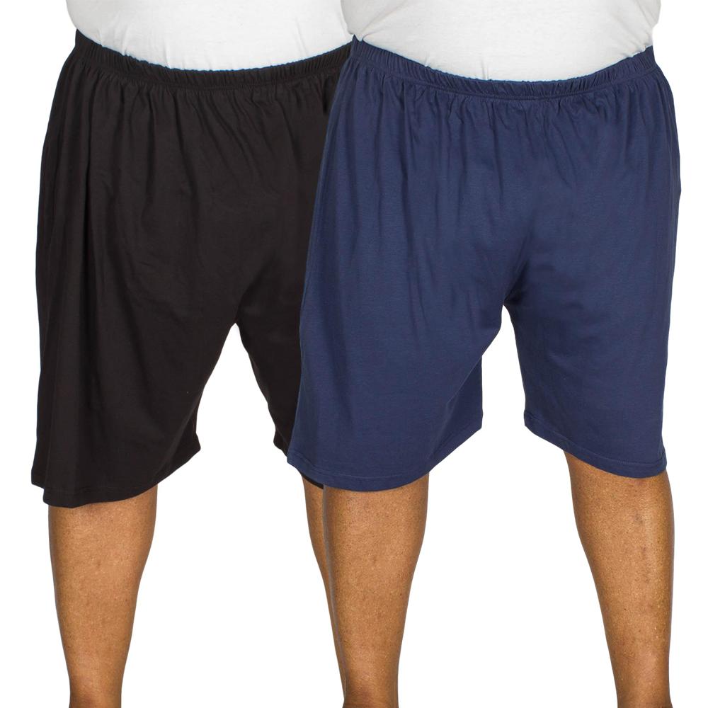 Kings Club Pyjama Shorts twin Pack Black/Navy