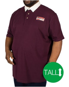 D555 Nash Rugby Polo Shirt Burgundy Tall