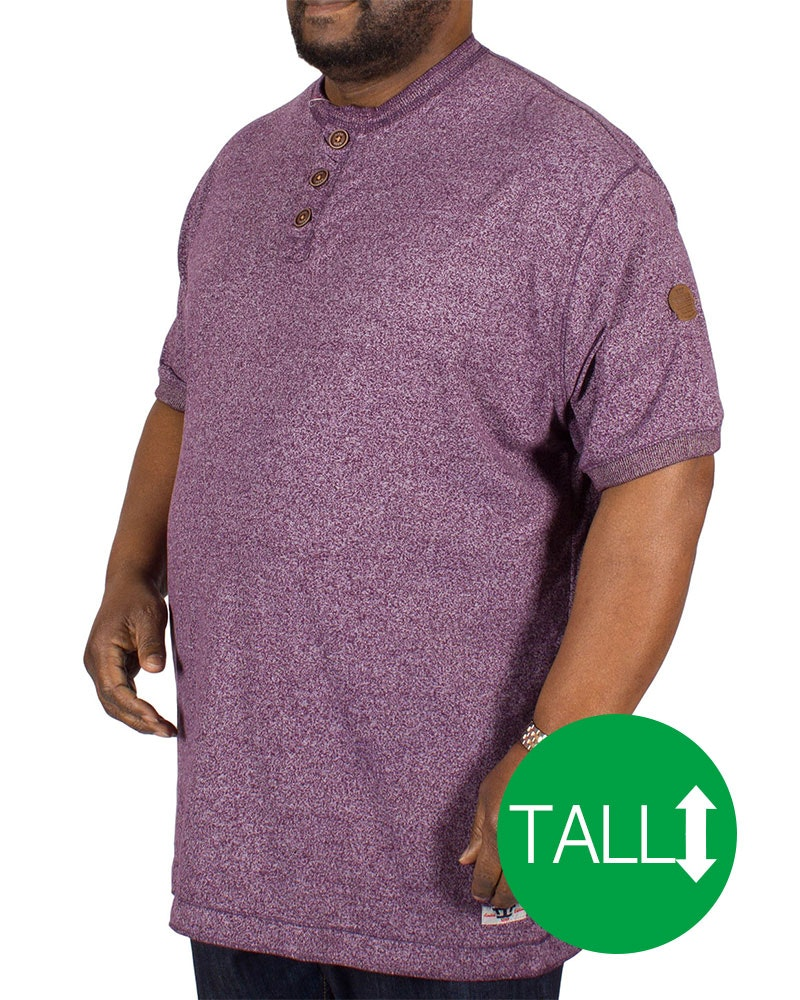 D555 Paul Woven T-Shirt Plum Tall