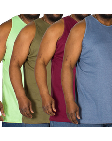 Bigdude Plain Vest Colours 4 Pack