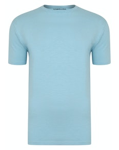 Bigdude Vintage Marl Slub T-Shirt Sky Blue Tall