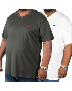 Bigdude Signature V-Neck T-Shirt Twin Pack Black/White