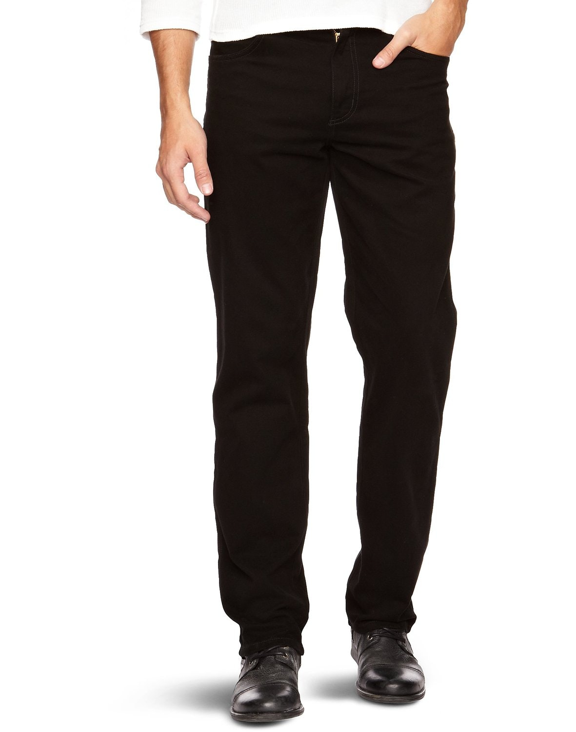 Wrangler Texas Stretch Black Straight Jeans