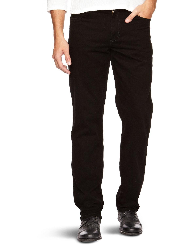 Wrangler Texas Stretch Black Straight Jeans