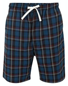 Bigdude Woven Check Pyjama Shorts Navy/White