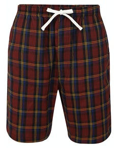 Bigdude Woven Check Pyjama Shorts Red/Yellow